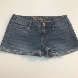 Fox Jean Shorts; size 7